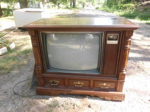 How to Revamp an Old Console TV Cabinet and I have two of these - free!