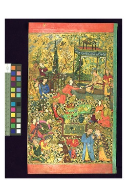 """The Wall Street Journal calls the Walters' focus show """"'Paradise Imagined: The Garden in the Islamic and Christian World,' a sublime little show of manuscript paintings"""""""
