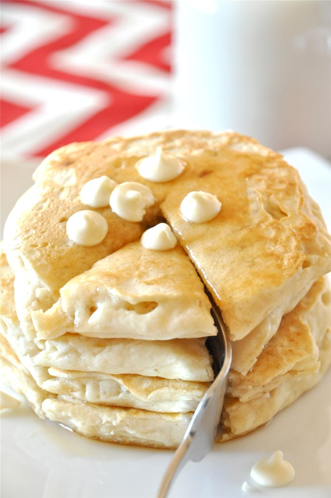 Vegan White Chocolate Macadamia Pancakes from the Minimalist Baker blog