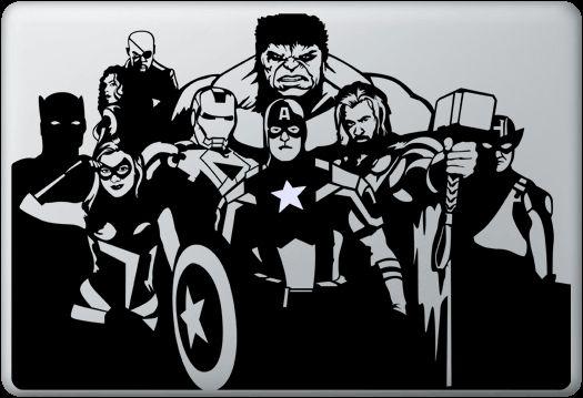 Macbook Funny Humor Decal Sticker Avengers Apple Macbook
