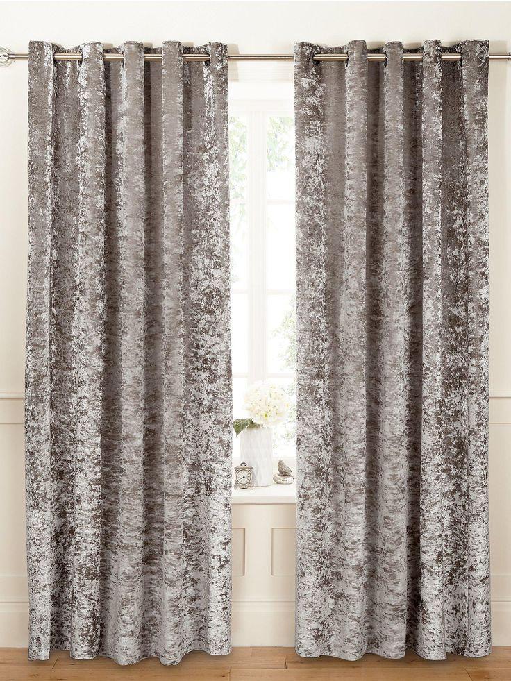 Luxury Crushed Velvet Eyelet Curtains   very.co.uk
