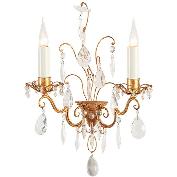 Lovely Baguès Gilded Applique available through AndreaFisherDesign.com  #frenchlighting #maisonbagues #frenchsconces