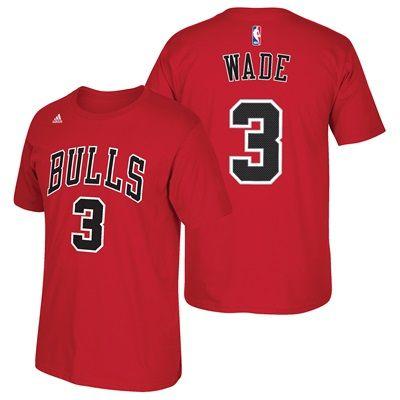 Chicago Bulls adidas Name & Number T-Shirt - Dwyane Wade: Chicago Bulls adidas Name & Number T-Shirt - Dwyane… #nbastore #nbastoreeurope