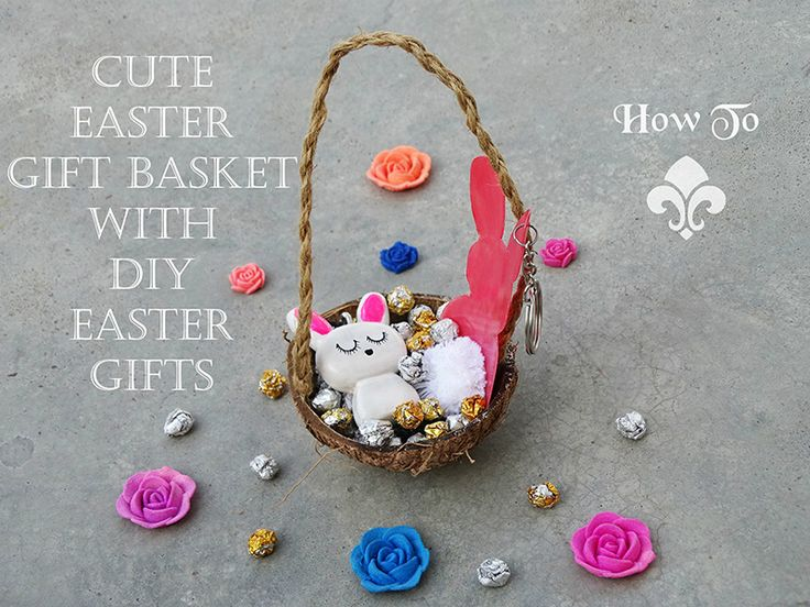 506 best diy images on pinterest creative decorate shoes and how to make a cute easter gift basket with diy easter gifts negle Image collections