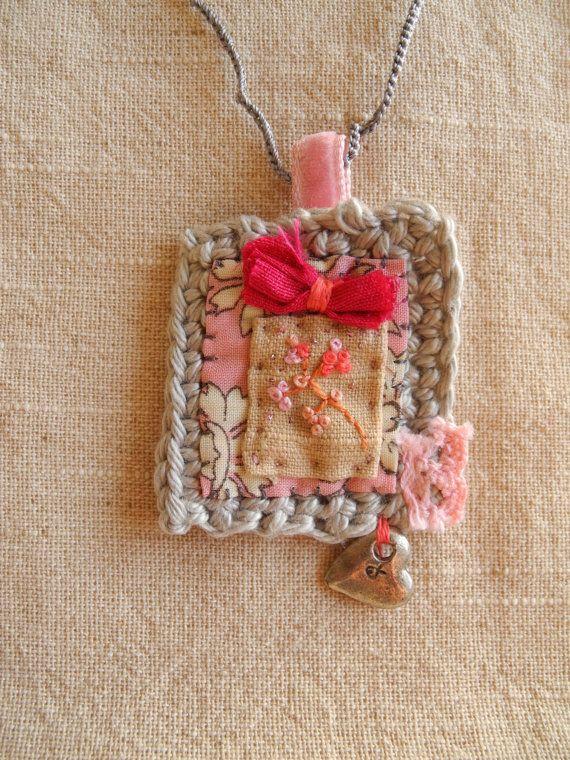 Bordado de flores ganchillo tela de liberty encanto por giovabrusa