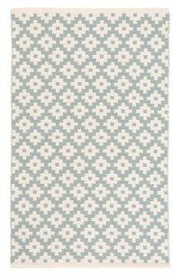 This Dash & Albert woven seafoam patterned rug would be perfect in a Scandinavian farmhouse-style home or room: Nordstrom Anniversary Sale: The Guide - Love and Specs