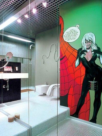 19 best room inspo en suite images on pinterest for Spiderman bathroom ideas