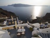 Amazing view at the Caldera of Santorini from the Esperas Houses Historic Hotel