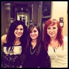 Korey Cooper (Skillet), Lacey Sturm (Flyleaf), Jen Ledger (Skillet) -- three lovely ladies that I ADORE!