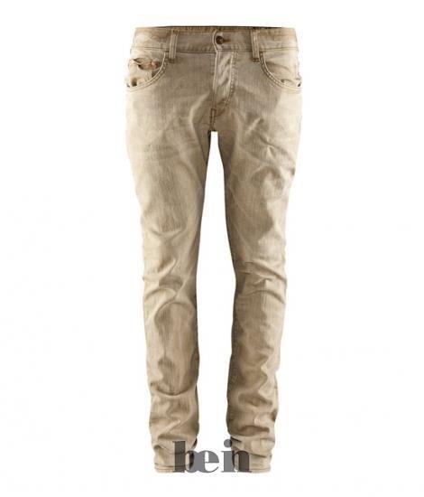 Бежевые мужские джинсы
