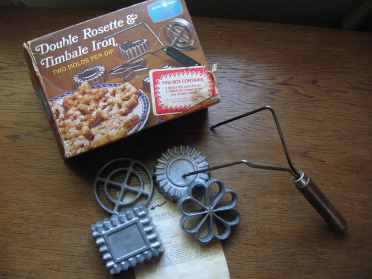 Vintage Nordic Ware Double Rosette and Timble Iron with 4 Form Molds and Box, Vintage Cookie Making, Vintage Nordic Ware, Shabby Chic by RockvilleCraft on Etsy