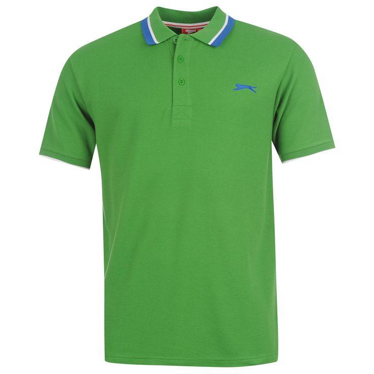 Slazenger   Slazenger Tipped Polo Shirt Mens   Mens Polo Shirts