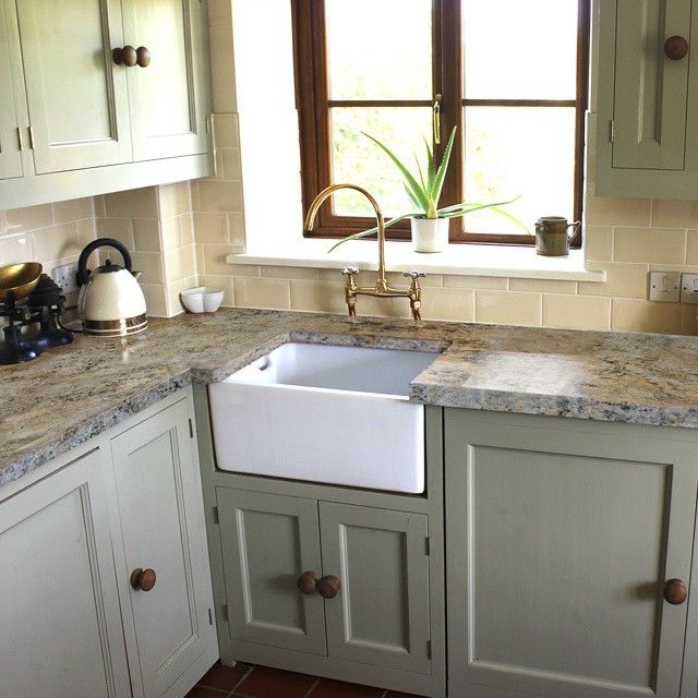 Such a cozy and inviting kitchen! This is our Sicilian Sand countertop paint kit applied over an old butcherblock countertop!  #diy #paint #home #renovate #interiordesign #homedecor #homerenovation #budget #kitchen #makeover