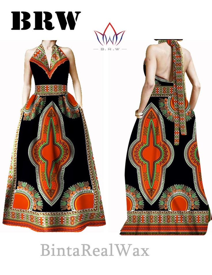 Bazin Riche Women Dress Halter Vestidos Plus Size 6XL Party Dress Beckless Long Maxi Jurken African Print Dresses Dashiki WY30