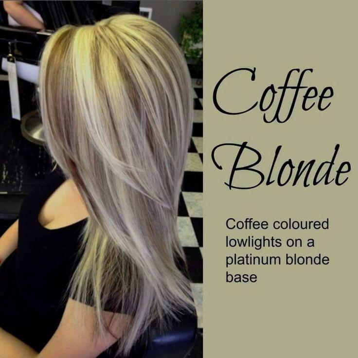 20 Trendy Hair Color Ideas 2019 Platinum Blonde Hair Ideas: Platinum Blonde Hair With Caramel Lowlights