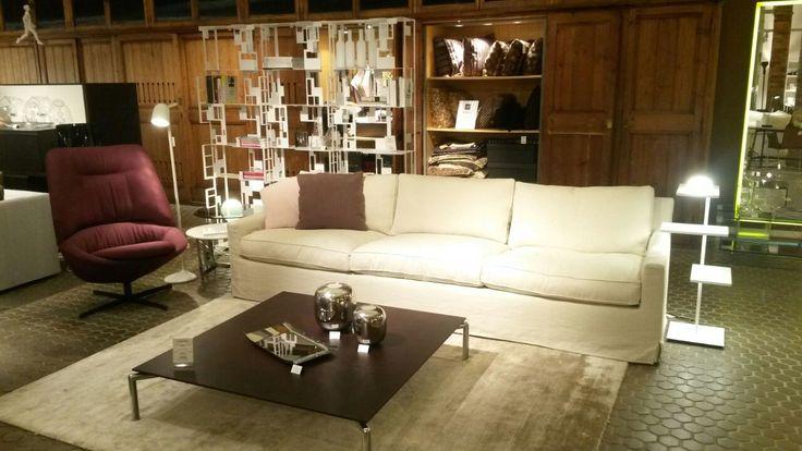 arflex - Showroom Cubina - Barcellona, So Cute!! Sofa Cousy design Vincent Van Duysen and Ladle armchair desig Luca Nichetto designer