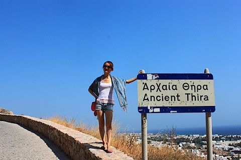 Ancient Thira, Santorini island, Greece - selected by www.oiamansion.com