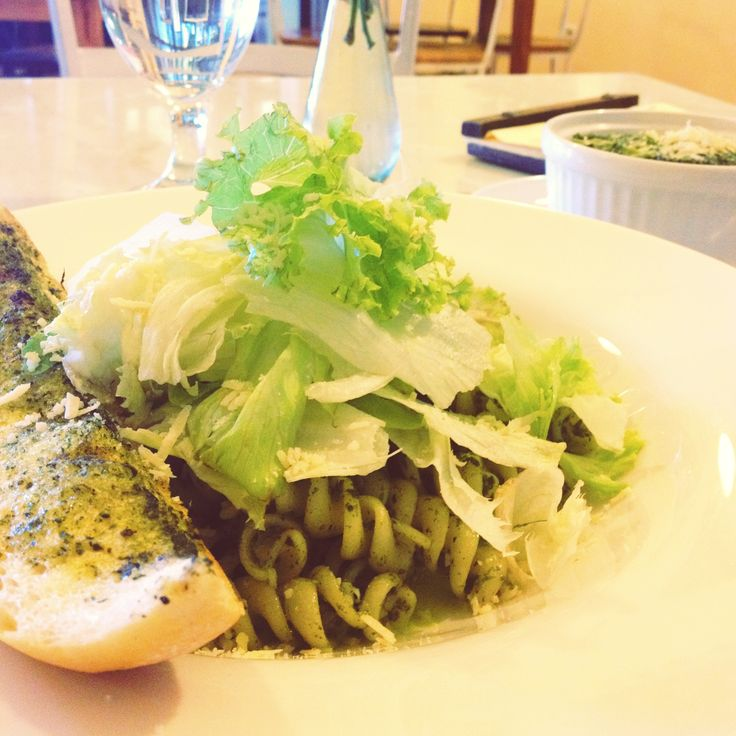 Fusilli with pesto is always a favorite meal!
