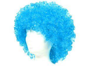 Perruque bleue Mega Funky Party perruque drole sympa afro africaine XXL déguisement soirée déguisée