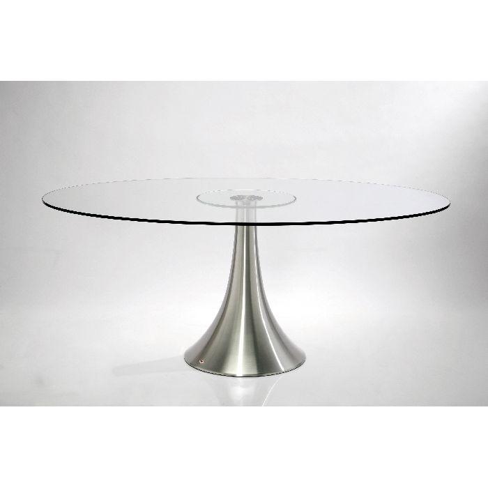 Τραπέζι Grande Possibilita Τραπέζι με βάση από αλουμίνιο σε ματ υφή και διάφανο γυαλί ασφαλείας 10mm. Διατίθεται και σε διάσταση 140 Χ 90cm.