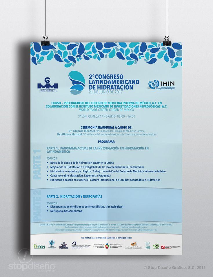 Diseño publicitario - Stop Diseño Gráfico - Diseño de poster - Congreso Latinoamericano de Hidratación 2017