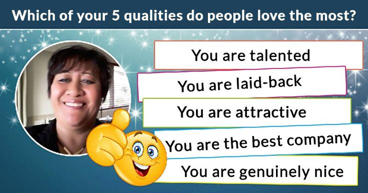 Which of your 5 qualities do people love the most?