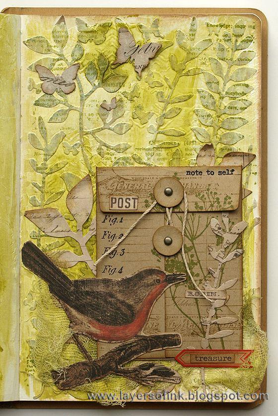 Botanical Pocket Page Tutorial