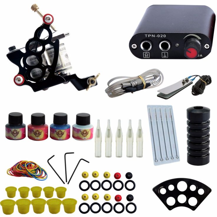 Completed Tattoo Machine Kit 10 Coils Guns Set 4 Colors Ink Black Pigment Sets Power Tattoo Beginner Grips Kits Permanent Makeup. Yesterday's price: US $27.99 (22.87 EUR). Today's price: US $21.83 (17.72 EUR). Discount: 22%.