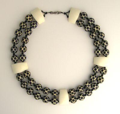 Soccer, anyone?  Vintage acrylic beads