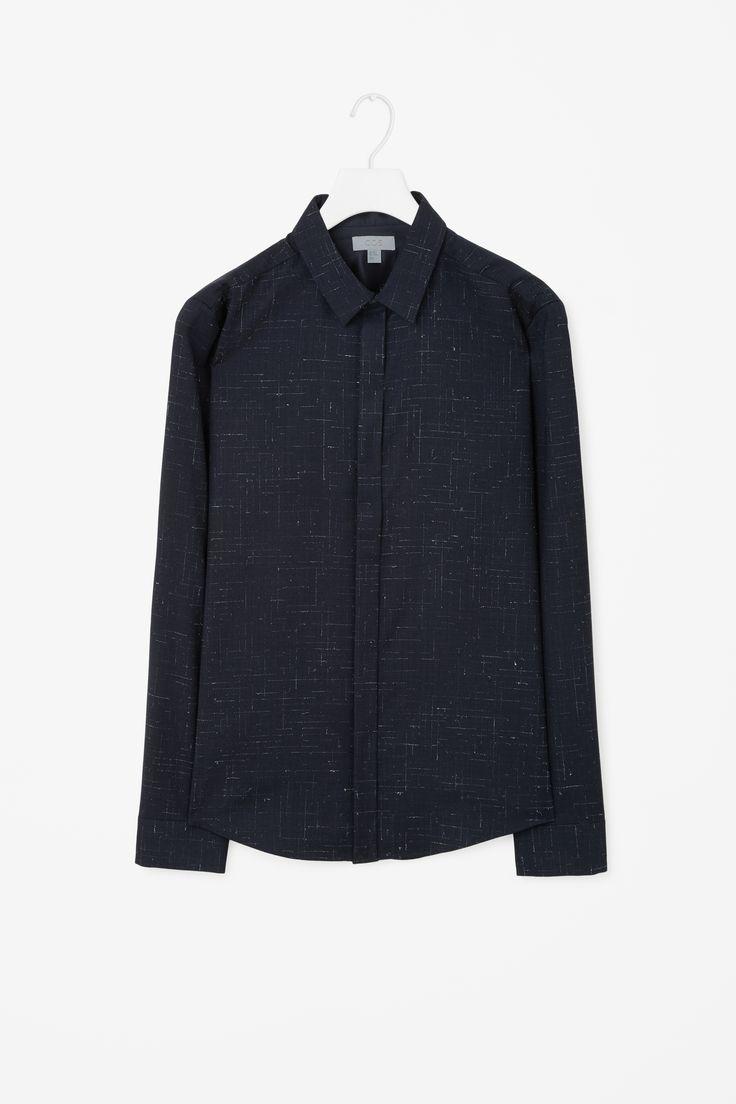 COS | Melange check shirt