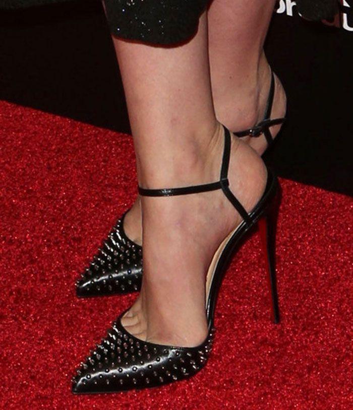 "Carey Mulligan Stuns in Glittery Erdem Dress and New Christian Louboutin ""Baila Spike"" Pumps"
