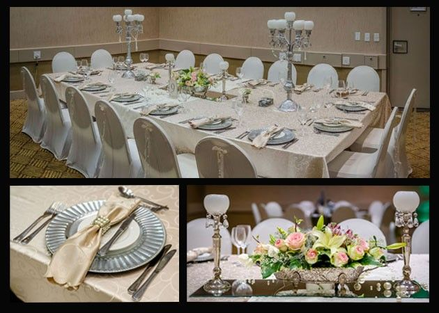 Beautiful table setups for you special occasion/event at the Riverside Sun Resort on the banks of the Vaal River. View their Virtual Tour listing at http://bizlistings.co.za/city/vaal/virtual_tour/riverside-sun/