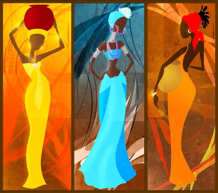 Portrait de femmes africaines