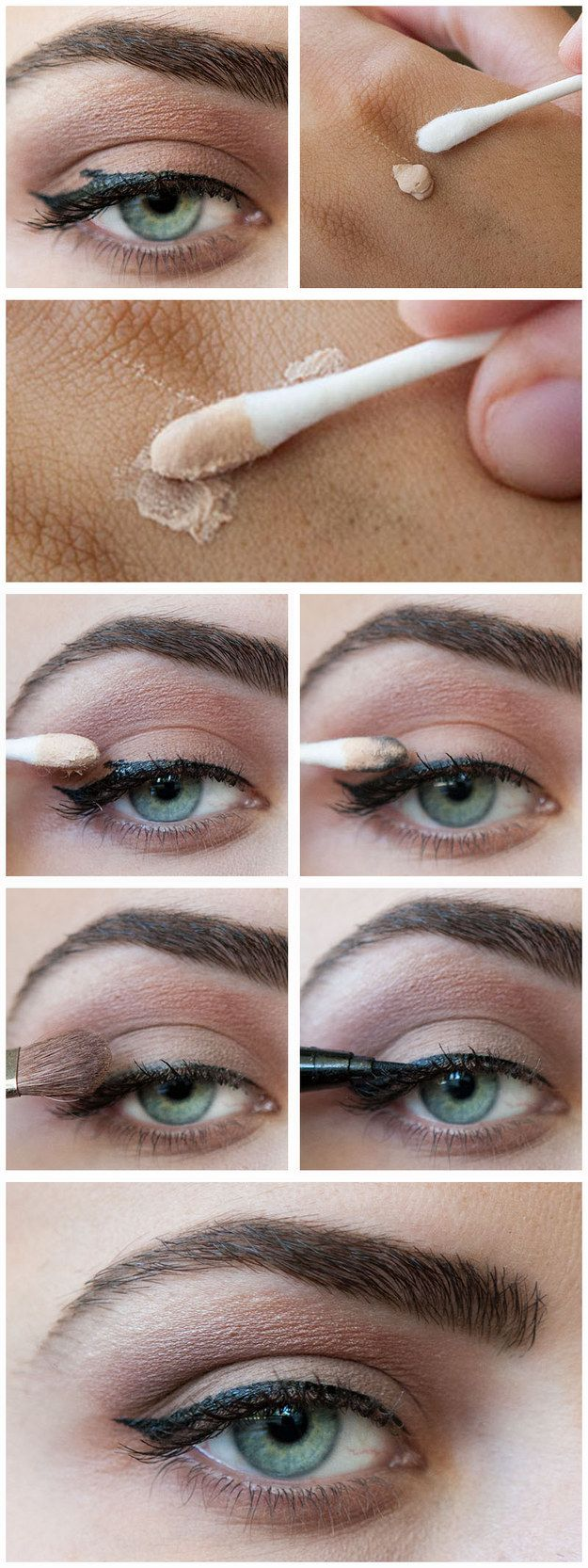 A dab of primer or concealer can work wonders for fixing smudges.