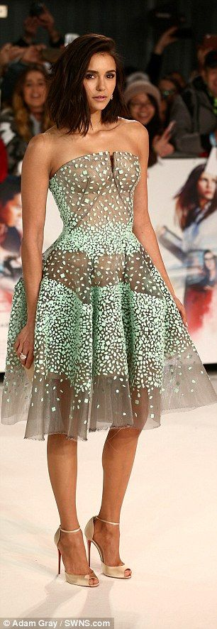 Nina Dobrev wears prom dress at xXx: Return Of Xander Cage premiere | Daily Mail Online