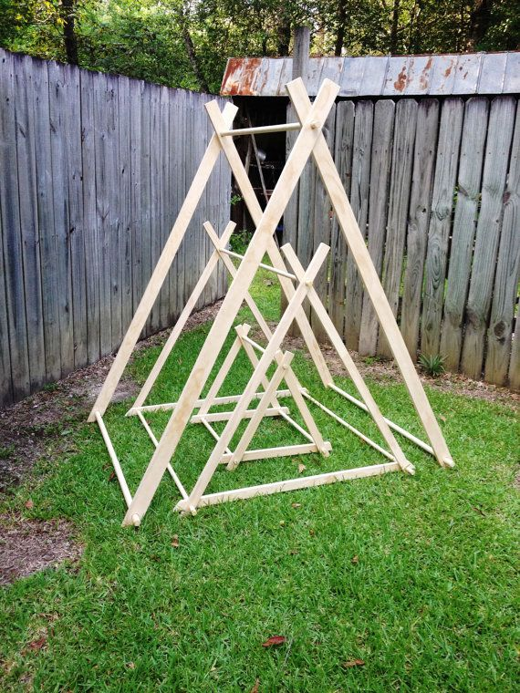 6 Foot A-Frame Tent Frames Fort Playhouse Teepee Photo by SewUs