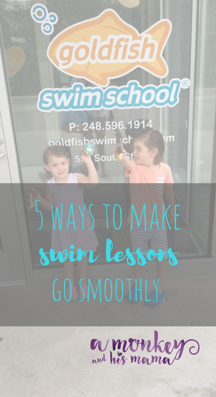 5 ways to make your swim lessons go more smoothly.  Swim lessons for kids.  Goldfish Swim School Swim Lessons.  What you need for swim lessons.