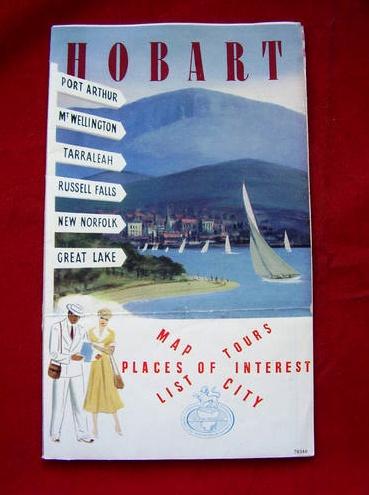 VintageMap of Hobart, Tasmania