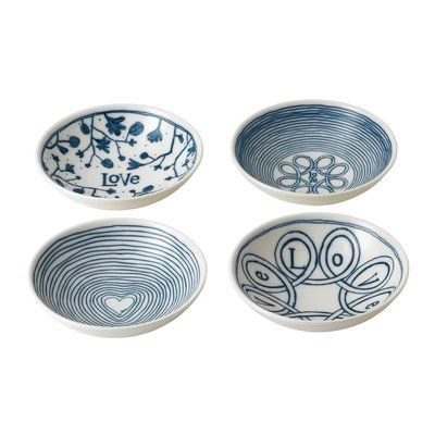 ED Crafted by Royal Doulton Love 4 Piece Pasta Bowl Set