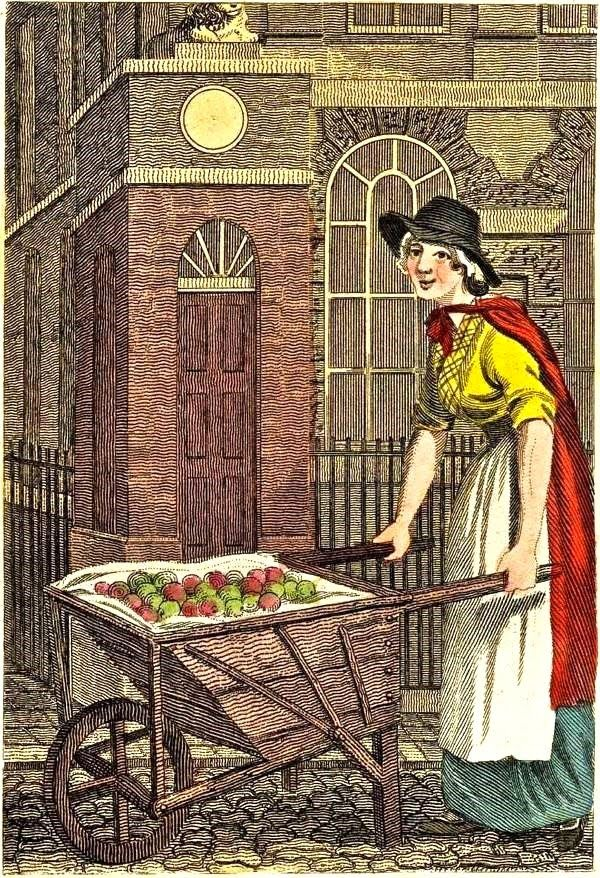 William Marshall Craig's Itinerant Traders of London in their Ordinary Costume...1804.  Baking or Boiling Apples