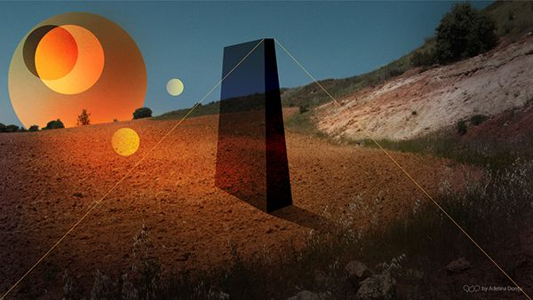 Abstract Wallpaper. Space, surreal, nature, moon, sun, overlay, odyssey, monolith, unknown