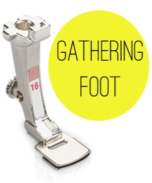 Sewing Machine Feet: how to use a gathering foot