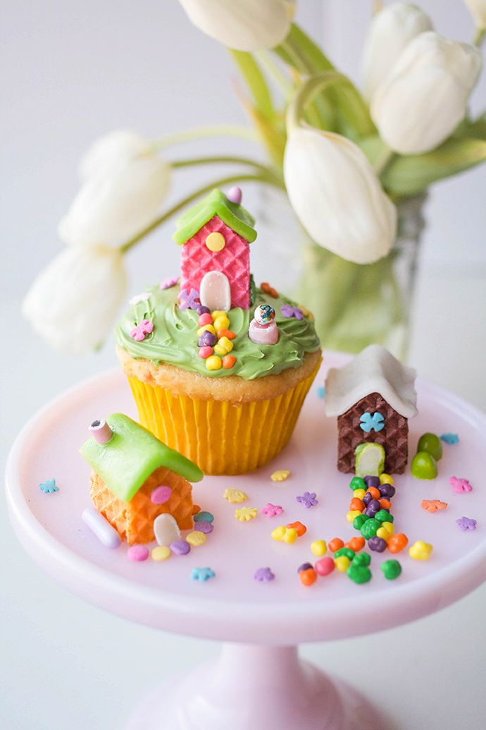 Wafer Cookie Fairy Houses