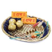 Chocolates In Basket and rakhi to Delhi