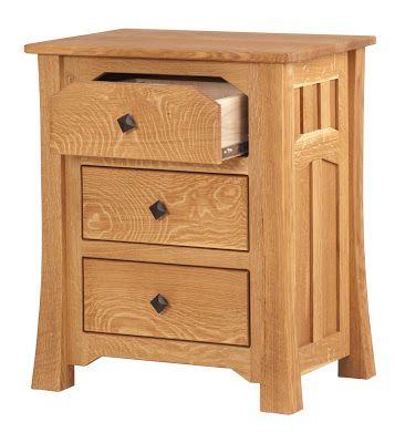 Edmonton Nightstand Oil Wax Quarter Sawn Oak Bedroom Furniture Dressers Bed
