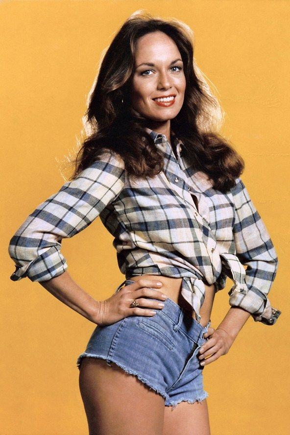 Catherine Bach  was the original Daisy Duke – starring in Seventies US television show The Dukes Of Hazzard. The tiny cut-offs, that consequently caused one of fashion's most long-term denim trends, were Bach's own costume idea. She was asked to bring an outfit for her character from home, deciding on a check shirt and the now-famous shorts. A poster of her wearing the style sold five million copies and her legs, at the time of the show, were insured for one million dollars (£659,000).