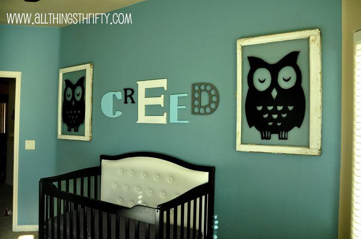 Cute OwlsWall Colors, Owls Nurseries, Baby Boys Nurseries, Baby Room, Painting Colors, Boys Room, Nurseries Ideas, Baby Boy Nurseries, Babies Rooms