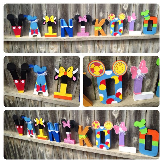 Custom Handmade Mickey Mouse Clubhouse Themed Nursery or Child's Room Letters, Teacher's Appreciation Gift, or Themed Party Centerpiece.