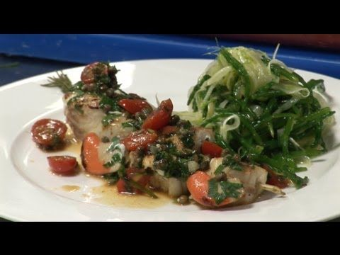 How to make monkfish and scallop on a rosemary stick | by Theo Randall - YouTube