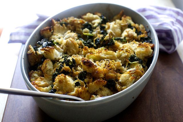 kale and caramelized onion stuffing | smitten kitchen